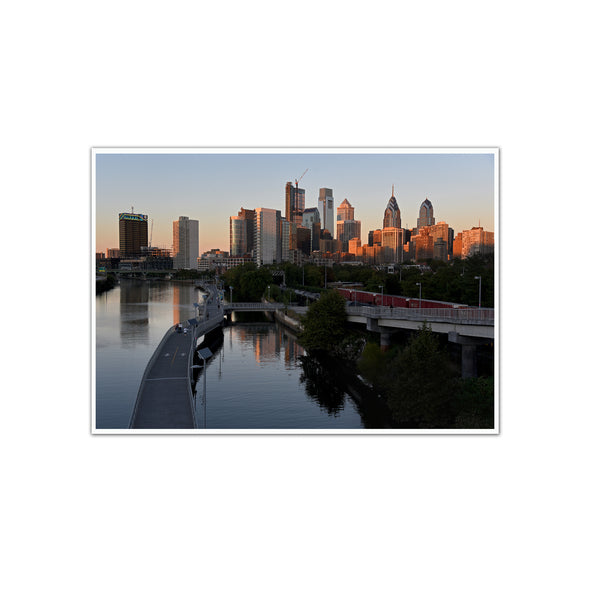 """View from South Street Bridge"", Unframed Print"