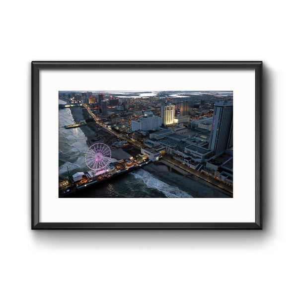 """Wheel at Steel Pier"", Framed Print with Mat"