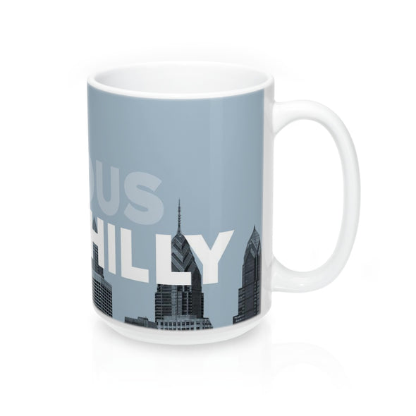 Curious Philly, Skyline Mug with Handle on Right