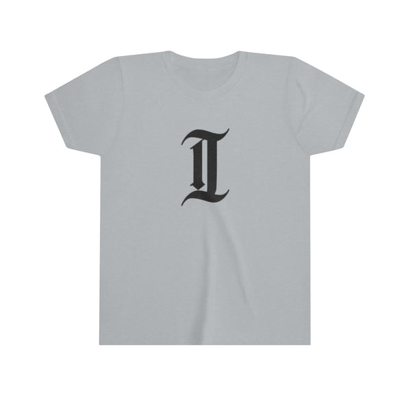 "inquirer classic ""i"" kids youth t-shirt athletic heather"