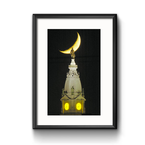 """Penn on the Moon"", Framed with Mat"