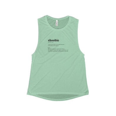 "Mint ""Shoobie"" Scoop Muscle Tank - Front"