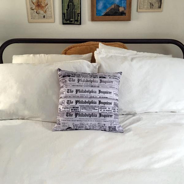 Philadelphia Inquirer Newspaper Pillow Bed Decoration
