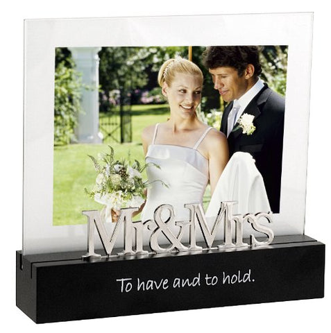 Celebrated Moments Mr. and Mrs. Black Wood Picture Frame, 5x7.