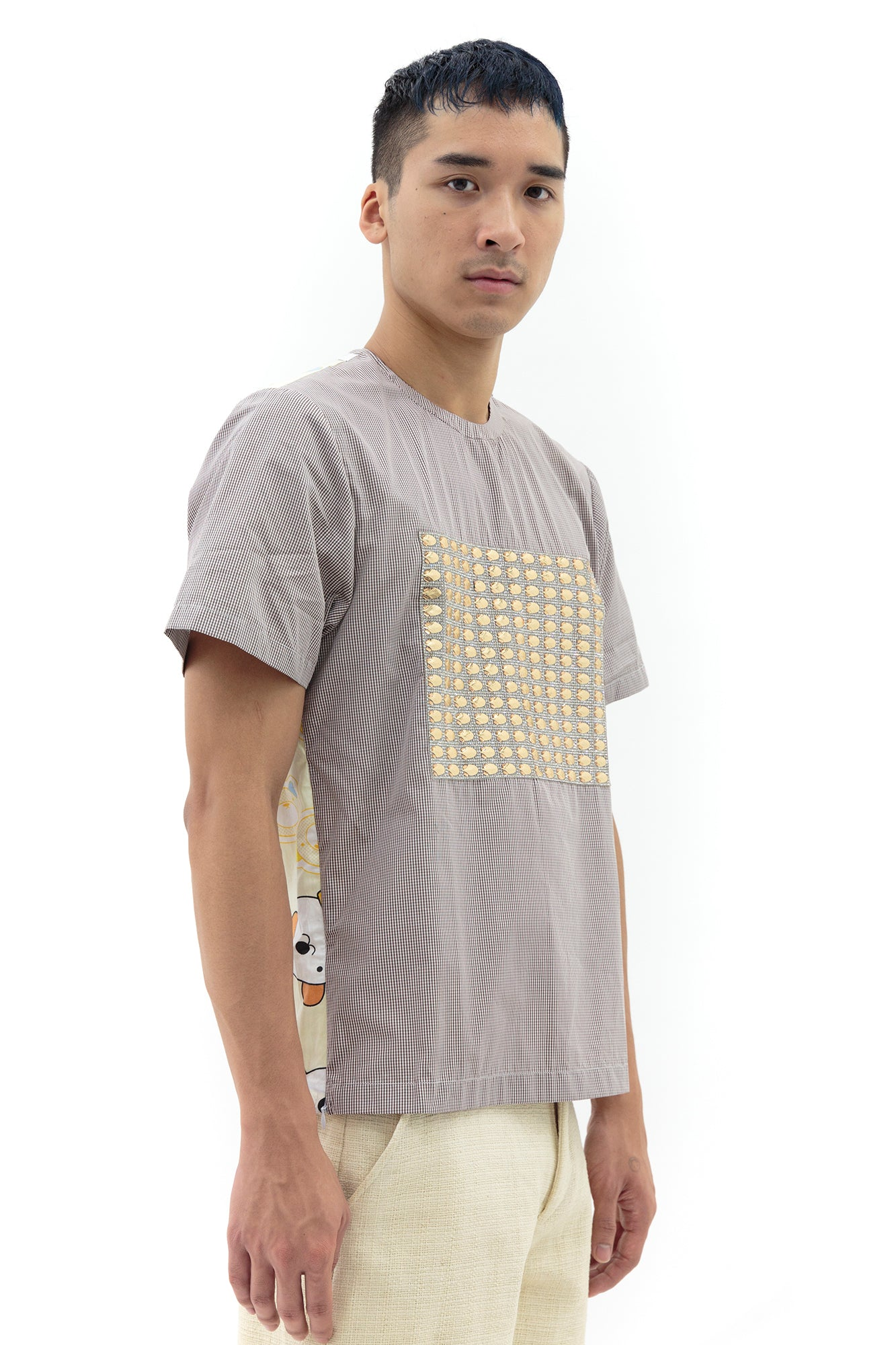 Zip Tee in Yellow Bear