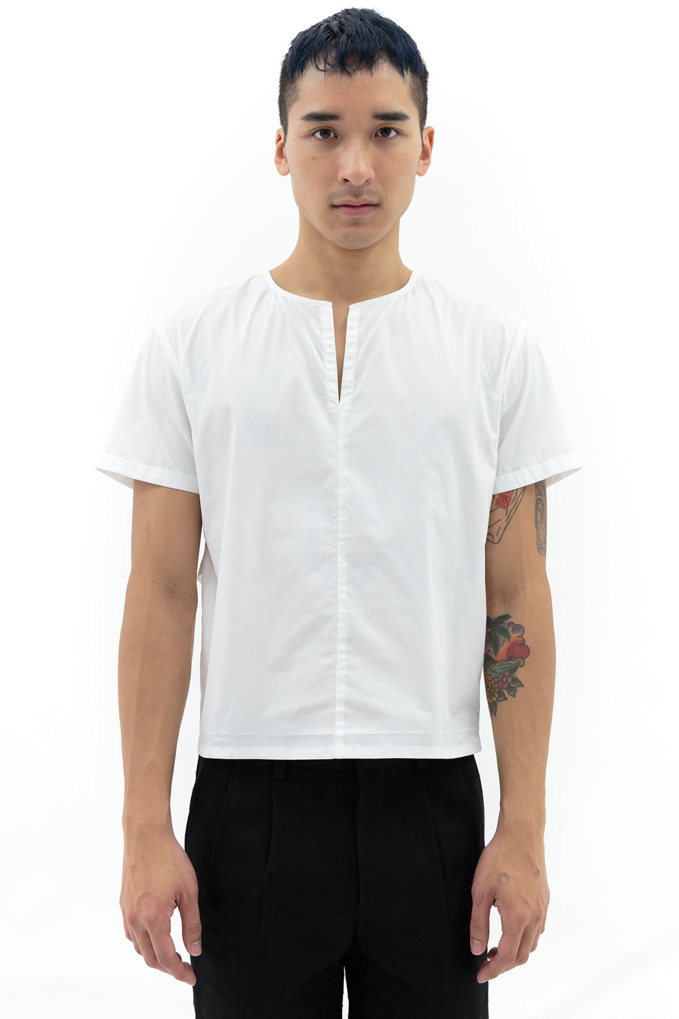 Smock with Strap in White