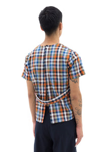 Smock with Strap in Multicolored Grid