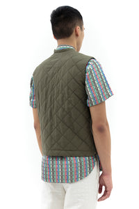 Zip Vest in Green