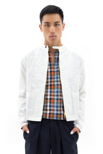 Jacket with Back Vent in White Rice
