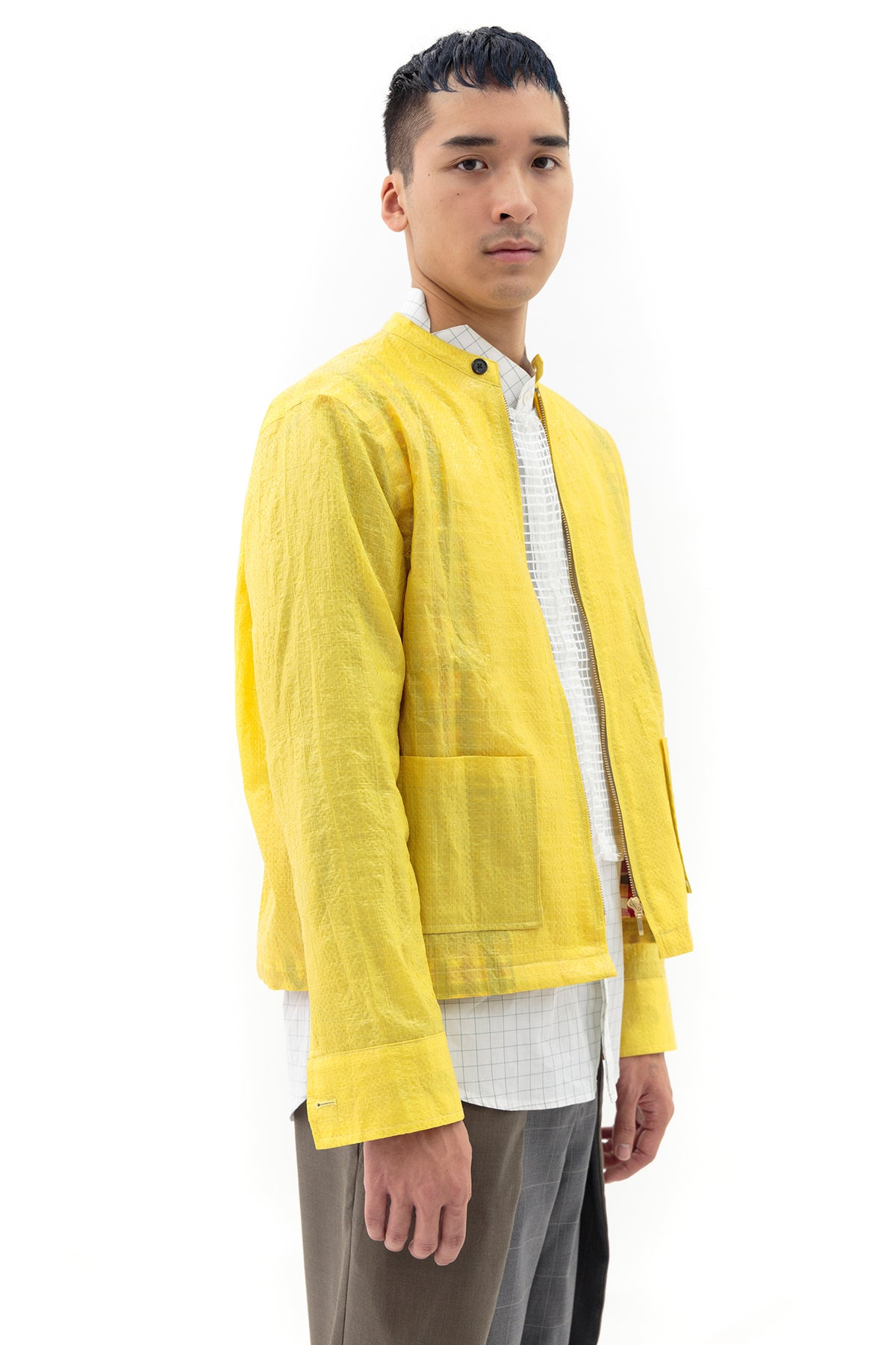 Jacket with Back Vent in Yellow Rice