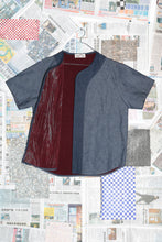 Baseball Shirt Maroon Denim