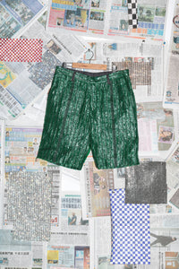 Plastic Shorts in Green Plastic