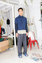 Pant with Insert in Blue Stripe