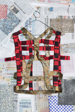 New Grid Vest in Red Tartan & Gold