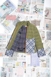 Quilted Jacket in Green Cord