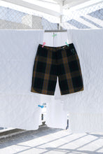 Front Flap Short in Cool Plaid