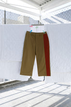 Big Pant with Insert in Olive Poplin