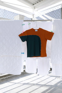 T-Shirt in Orange Rib