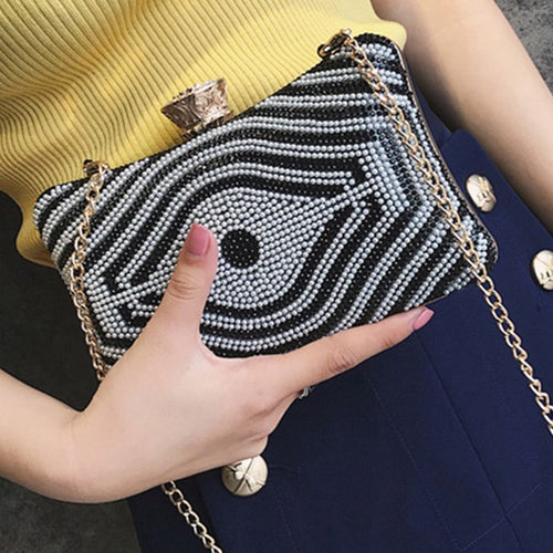 Lozenge Patterned Purse