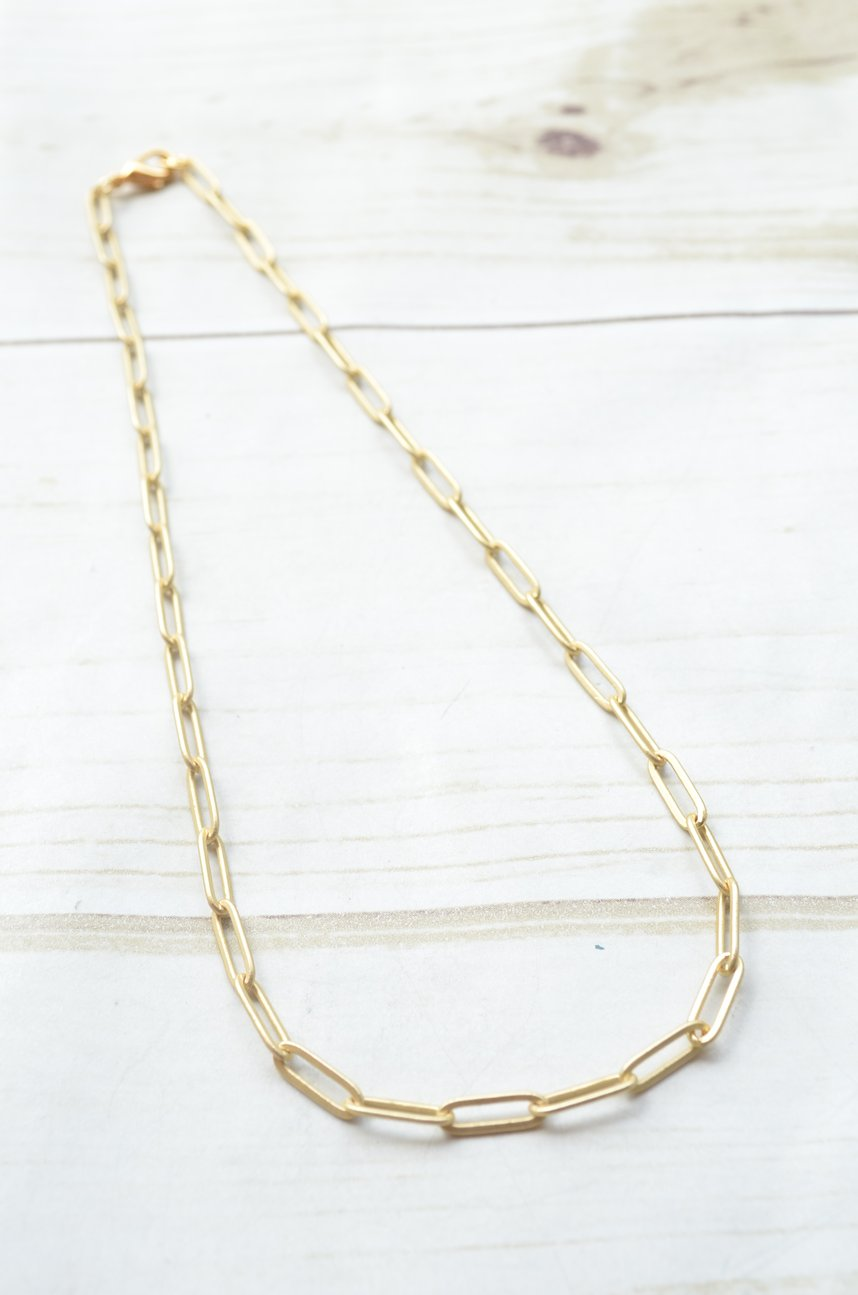 "15"" Large Paperclip Chain Necklace"