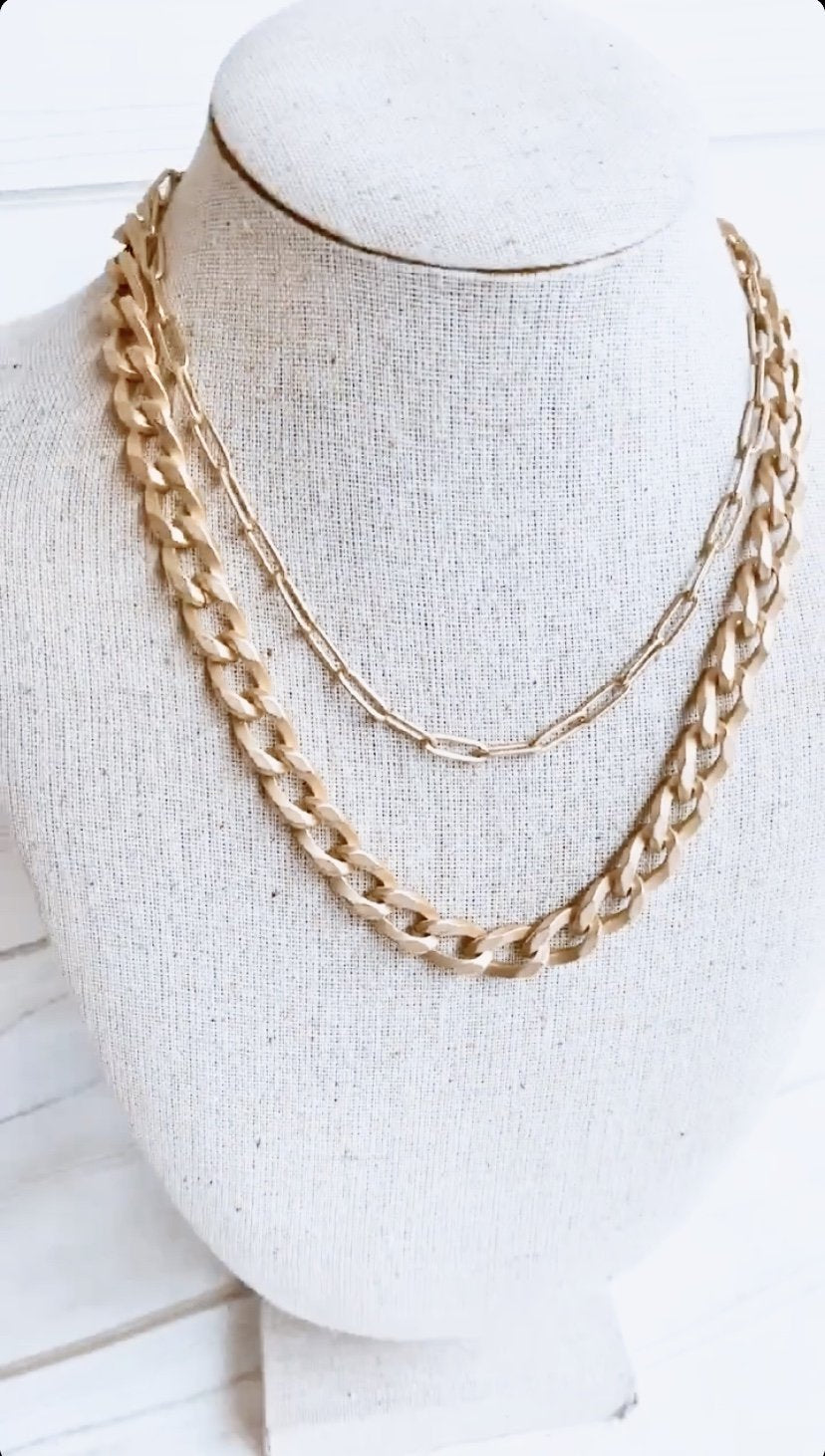 "18 "" Large Curb Chain Necklace"