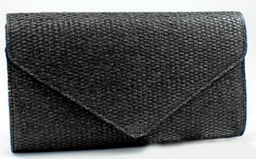 Straw Woven Envelope Clutch