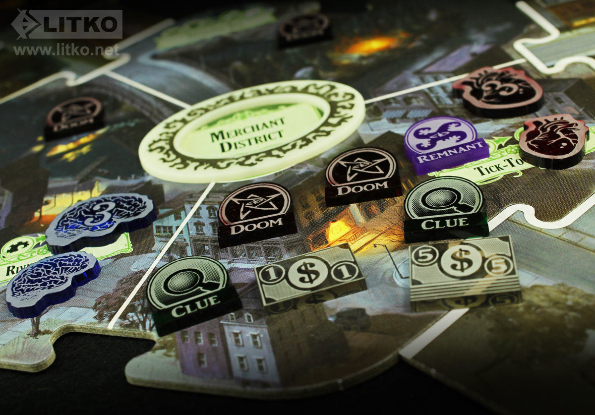 LITKO Upgrades compatible with the Arkham Horrow 3rd Edition Board Game