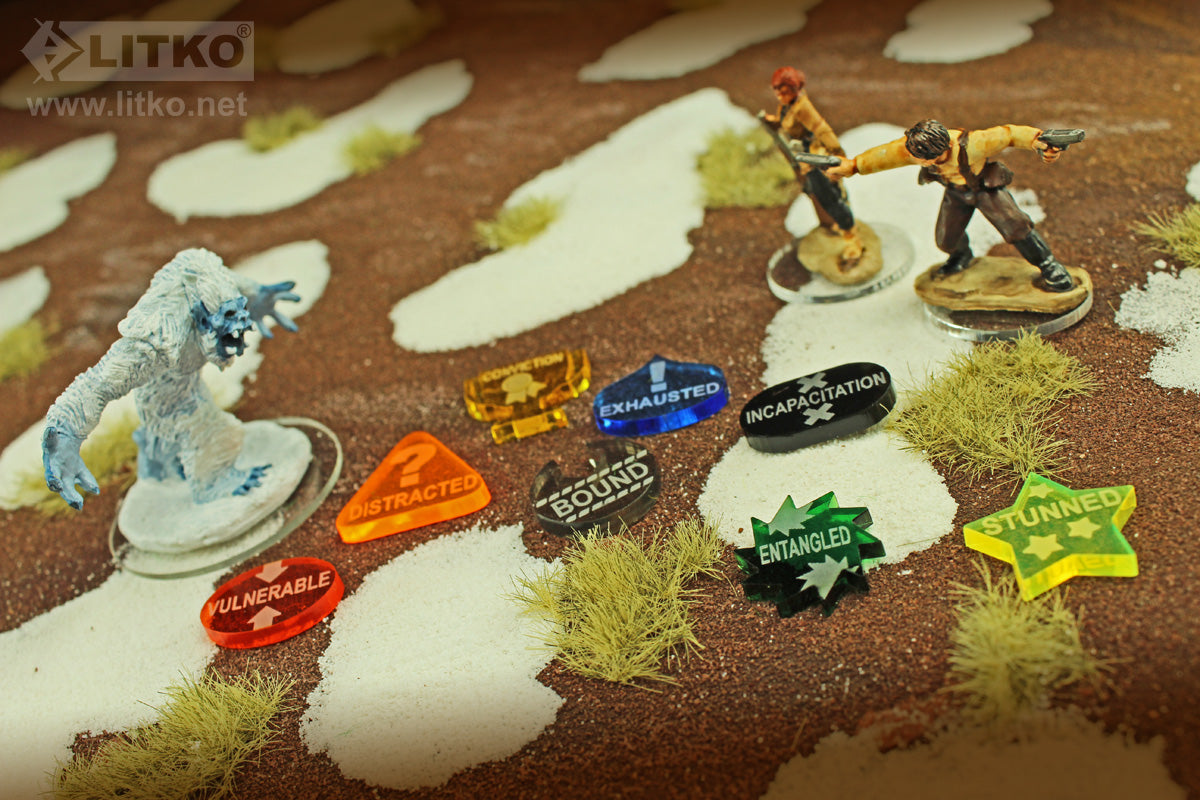 LITKO Adventure Token Set compatible with Savage Worlds