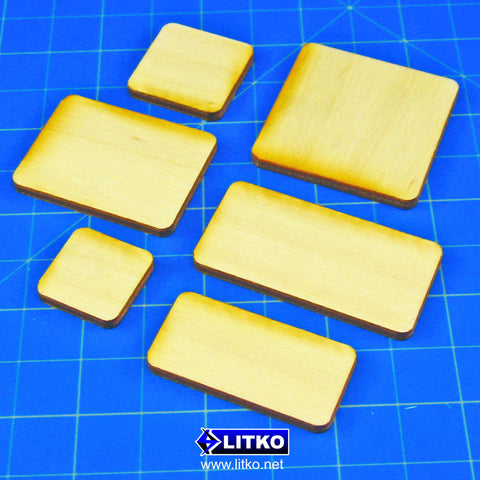 LITKO BaseMaker 3mm Plywood Miniature Bases with Rounded Corners - LITKO Game Accessories