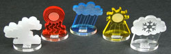 Impact Miniatures, Weather Effect Markers (5) - LITKO Game Accessories