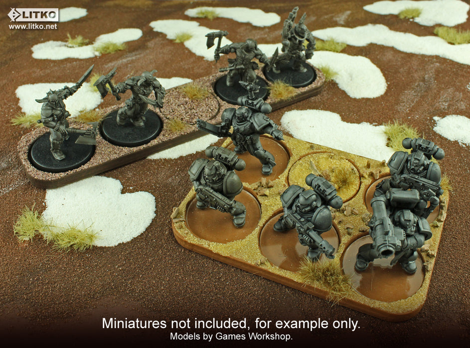 6x2 Formation Skirmish Tray for 32mm Circle Bases - LITKO Game Accessories