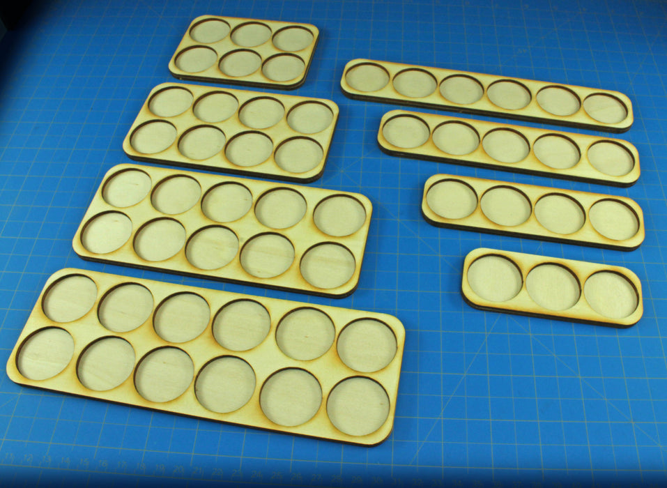 6x2 Formation 32mm Circle Base Skirmish Tray - LITKO Game Accessories