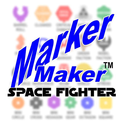 LITKO Personalized Space Fighter Custom Marker Maker (10) - LITKO Game Accessories