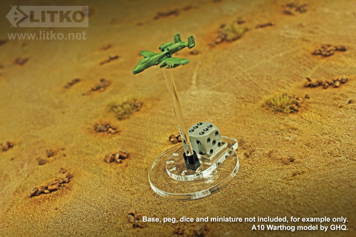 LITKO Flight Stand Dials #1-6 with Dice Tray for 12mm D6 (5) - LITKO Game Accessories