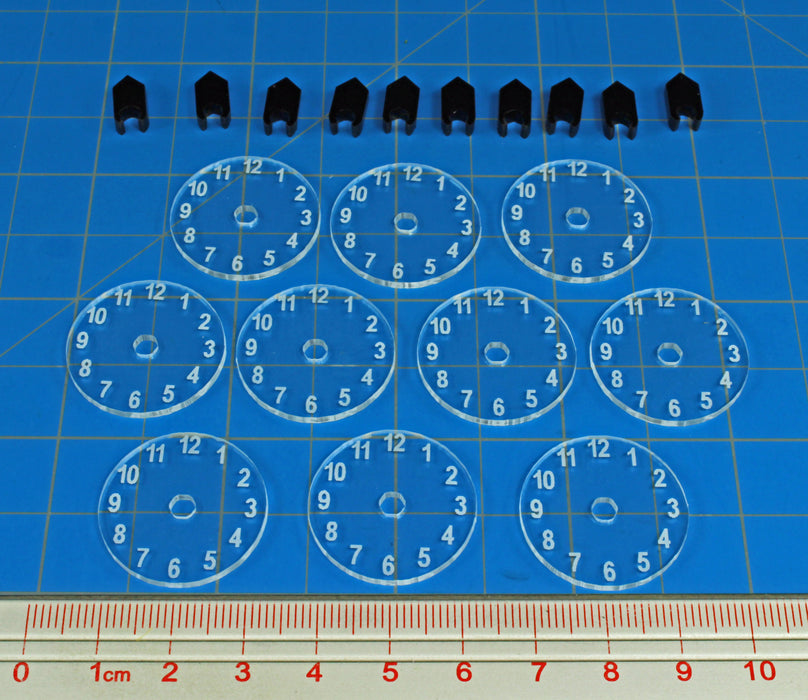 LITKO Standard Flight Stand Dials #1-12 with Pointers (10) - LITKO Game Accessories