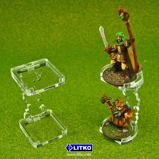 Flying Figure Stands, 25mm Round (2) - LITKO Game Accessories