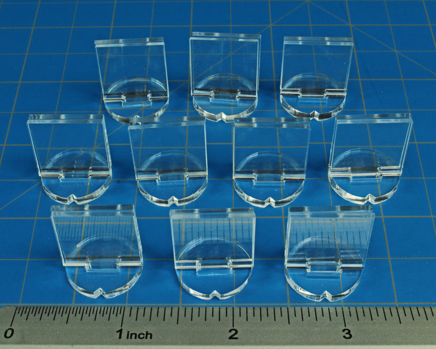 LITKO ¾-inch Wargame Counter Stands, Clear (10) - LITKO Game Accessories
