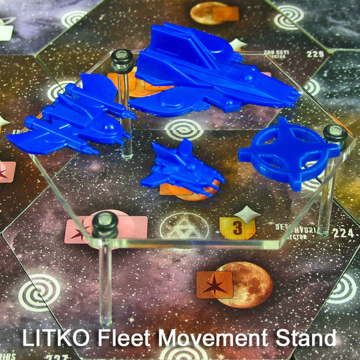 LITKO Fleet Movement Stands, Clear (3) - LITKO Game Accessories