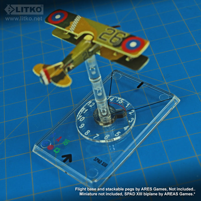 LITKO #1-15 Elevation Dials and Pointers Compatible with WoG Stackable Pegs (10) - LITKO Game Accessories