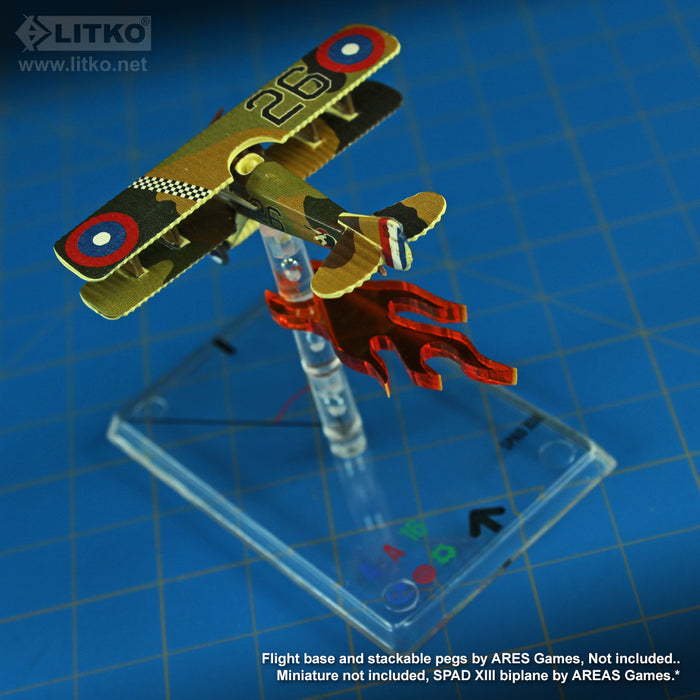 LITKO Fire Indicators Clips Compatible with WoG Stackable Pegs, Fluorescent Amber (10) - LITKO Game Accessories