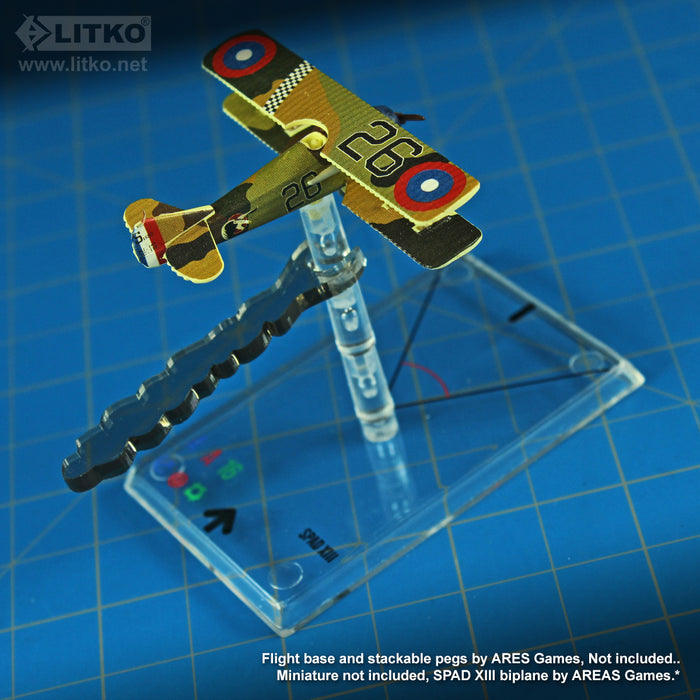 LITKO Smoke Indicators Clips Compatible with WoG Stackable Pegs, Transparent Bronze (10) - LITKO Game Accessories