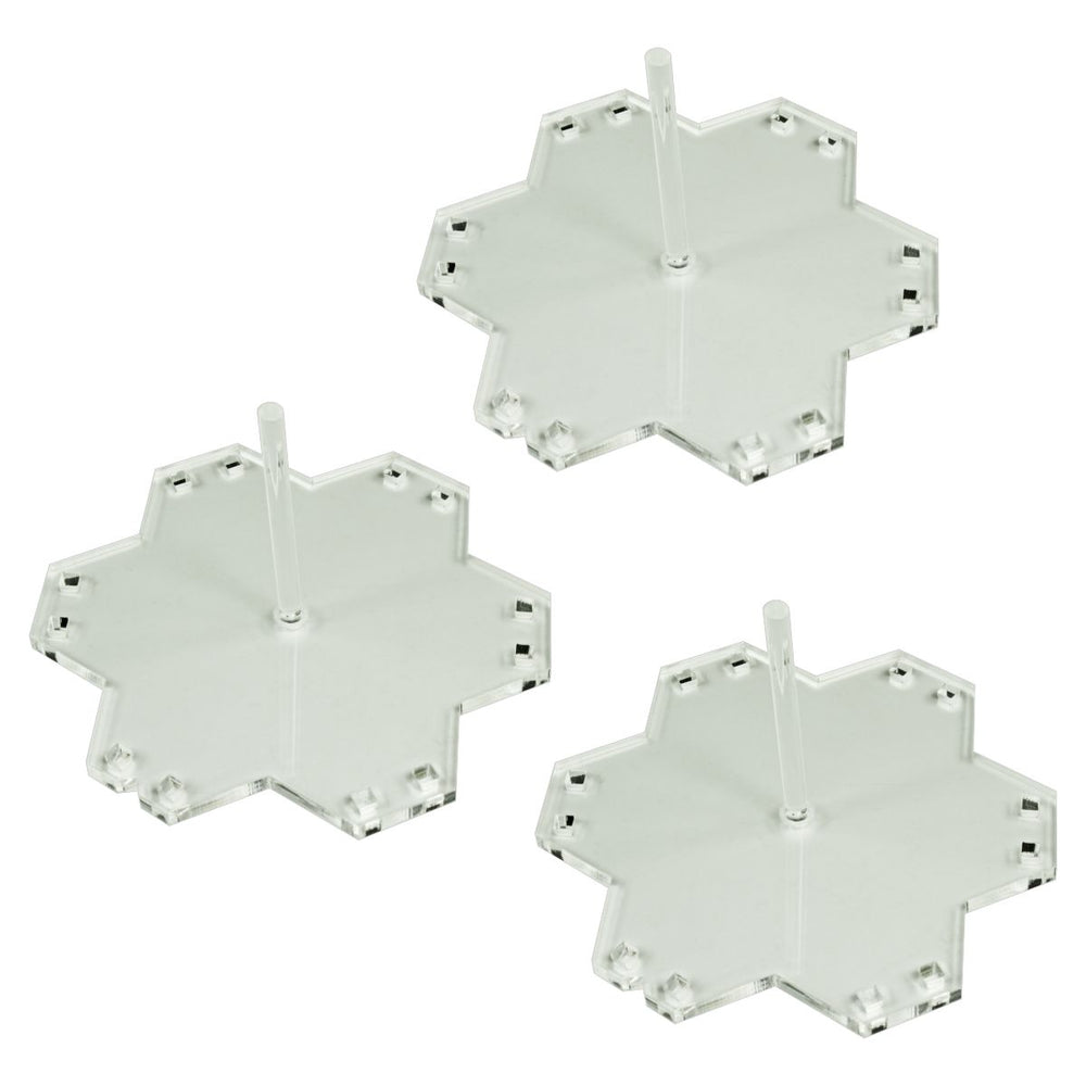 LITKO Large Flight Stands compatible with Battleship Galaxies. Clear (3) - LITKO Game Accessories