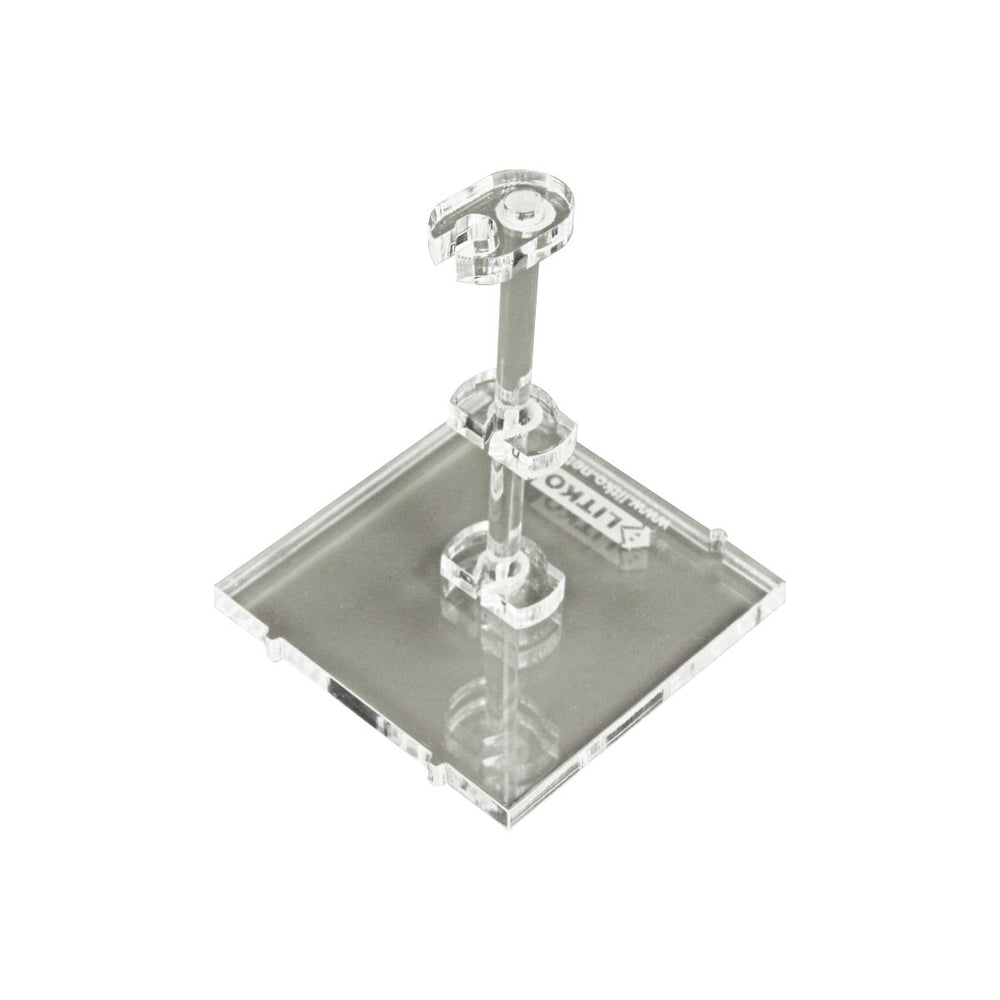 LITKO Space Fighter Deluxe Flight Stand (Standard Ship), Clear - LITKO Game Accessories