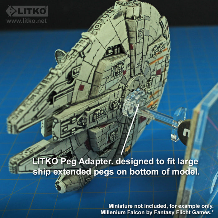 LITKO Space Fighter Deluxe Flight Stand (Large Ship), White - LITKO Game Accessories