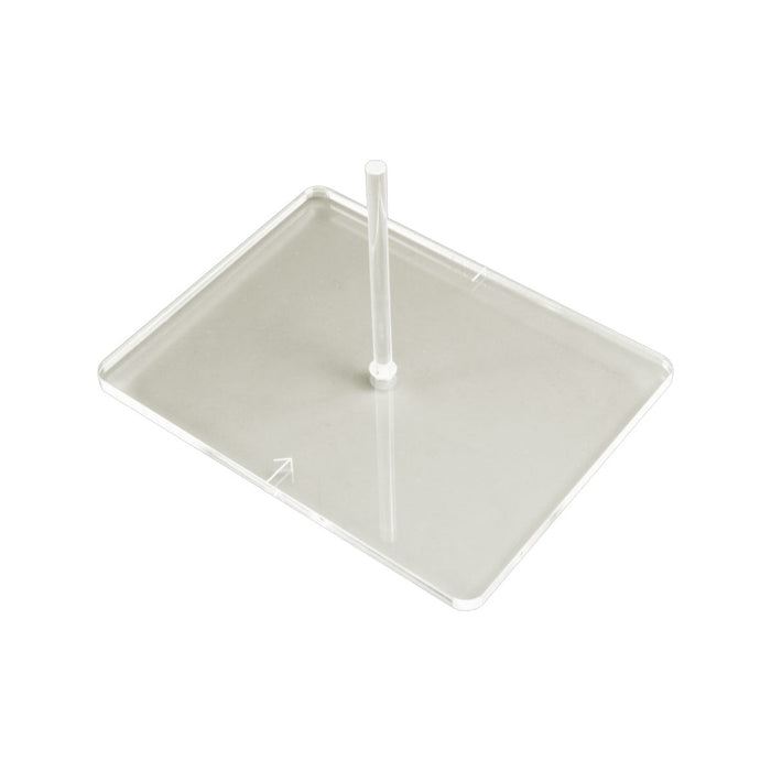 LITKO Flight Stand, Rectangular 67x87mm (Rounded Corners), WoG etching, 2 inch Peg, Clear - LITKO Game Accessories