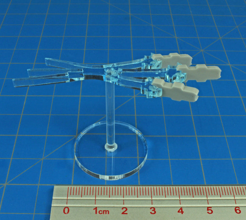 Space Missile Salvo Stand, Grey & Translucent Blue - LITKO Game Accessories