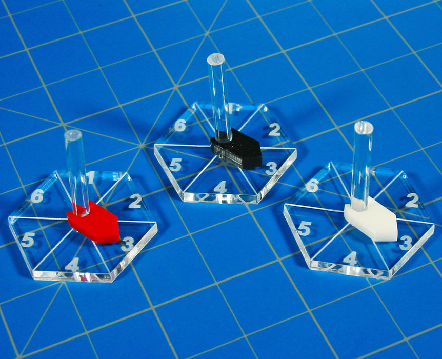 STARFIRE, 1 inch Hex Flight Base (10) - LITKO Game Accessories