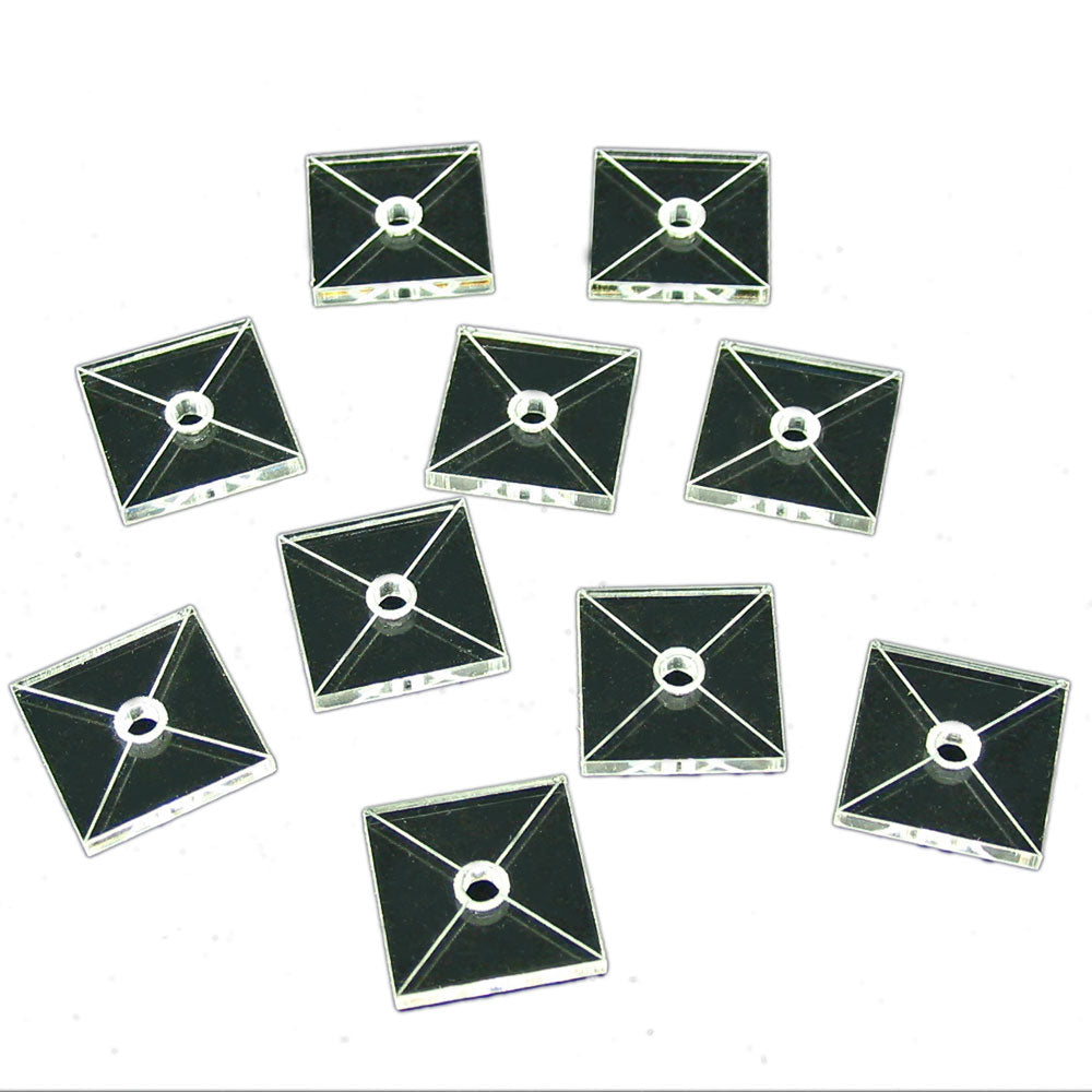 Tactical Flight Base, Square 20mm (10) - LITKO Game Accessories