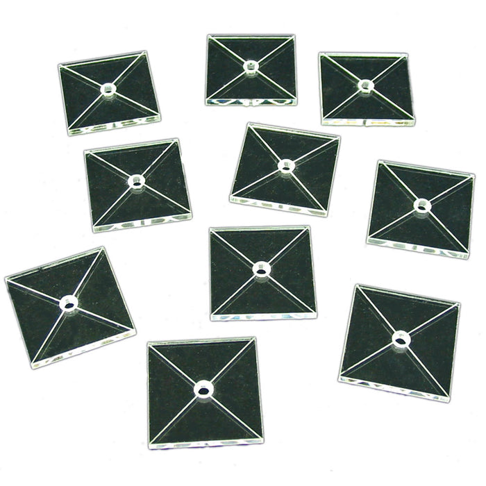Tactical Flight Base, Square 30mm (10) - LITKO Game Accessories