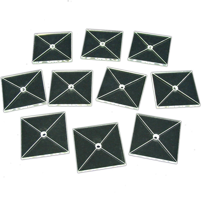 Tactical Flight Base, Square 40mm  (10) - LITKO Game Accessories